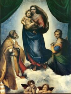 raphael-システィーナの聖母-c-1513-1514
