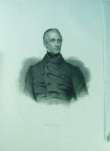 ラマルティーヌの肖像画