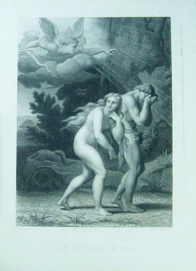 楽園を追われるアダムとイヴ